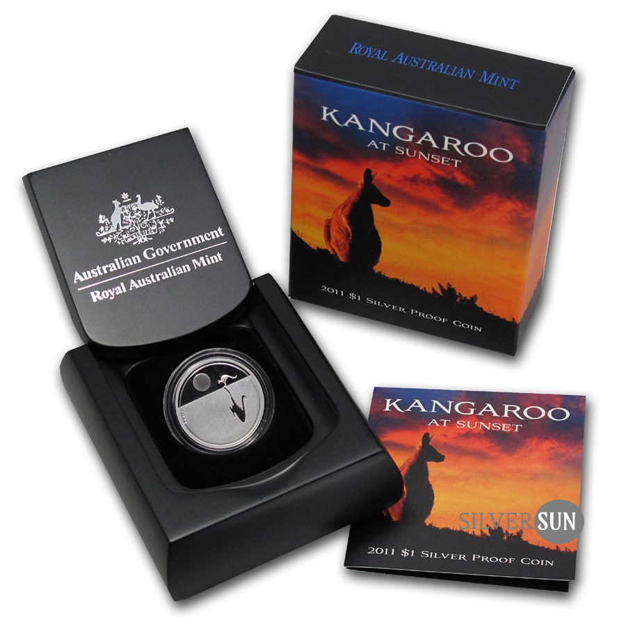 Kangaroo at Sunset RAM 2011 (Kengura) 1oz