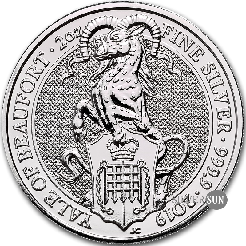 The Queen´s Beasts - Yale of Beaufort 2019 2oz