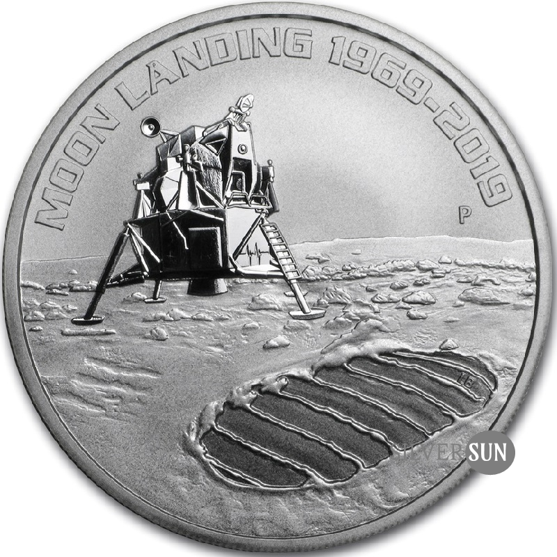 Moon Landing 50th Anniversary 2019 1oz