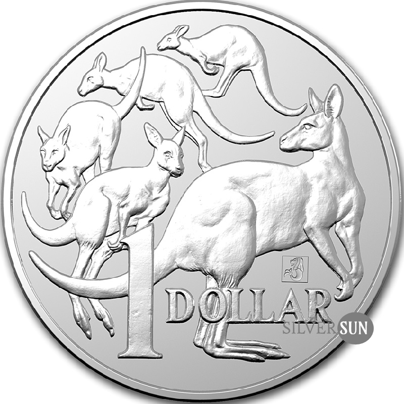 Kangaroo RAM - Mob of Roos Merlion Privy 2019 (Kengura) 1oz