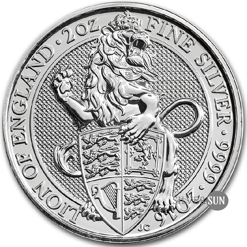 The Queen´s Beasts - Lion of England 2016 (Lev Anglicka) 2oz