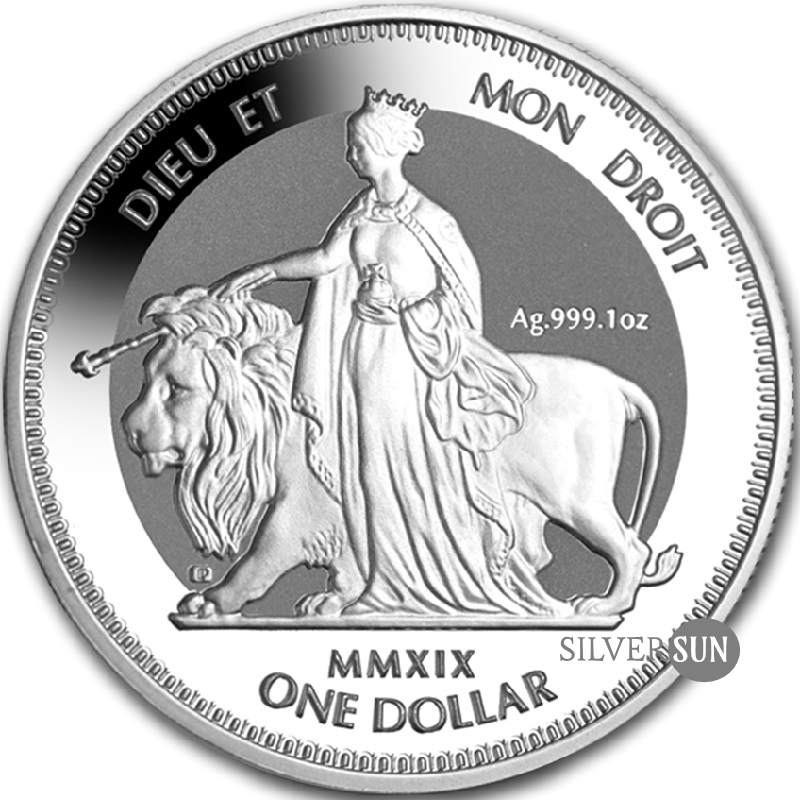 British Virgin Islands - Una & The Lion 2019 1oz