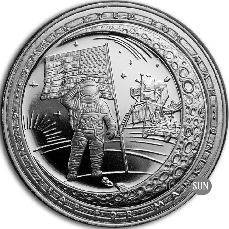 Moon Landing Anniversary - Giant Leap For Mankind 1oz