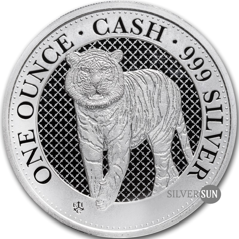 St. Helena - Cash India Wildlife - Tiger 2019 1oz