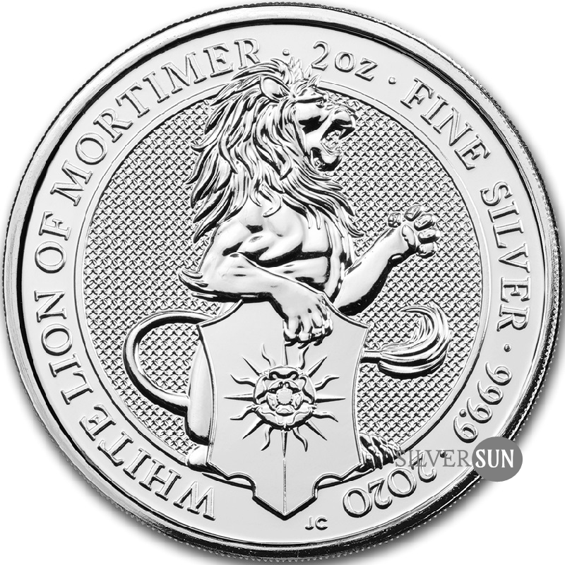 The Queen´s Beasts - White Lion of Mortimer 2020 (Biely lev) 2oz