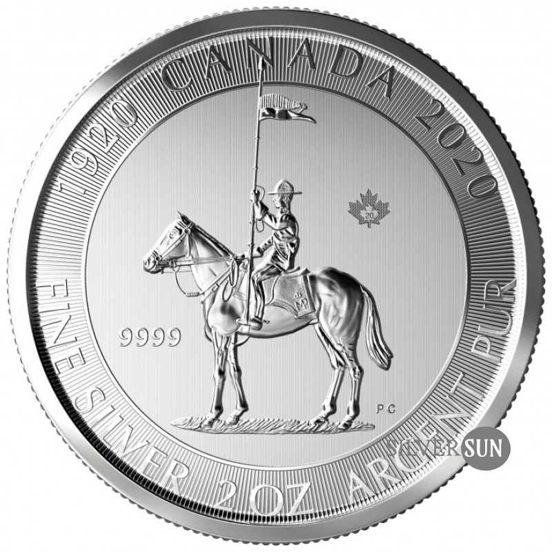 The 100th Anniversary of Royal Canadian Mounted Police 2020 2oz