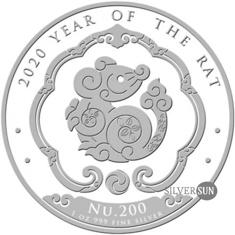 Kingdom of Bhutan - Lunar - Year of the Rat 2020 1oz