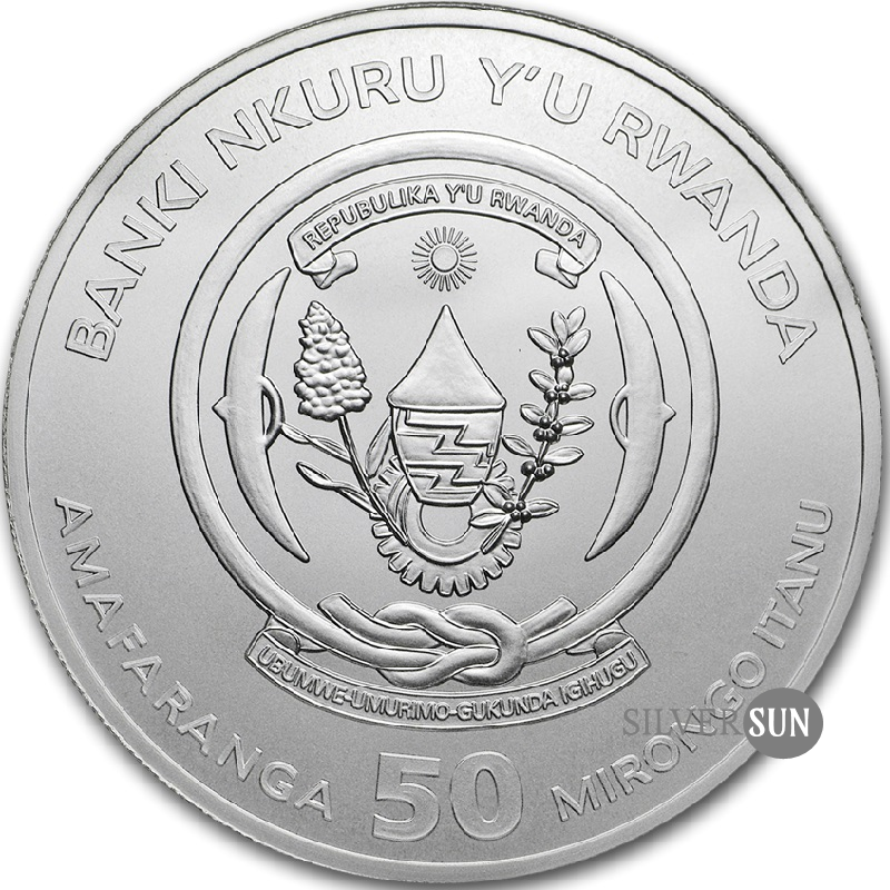 Rwanda - Lunar Ounce - Year of the Pig 2019 1oz