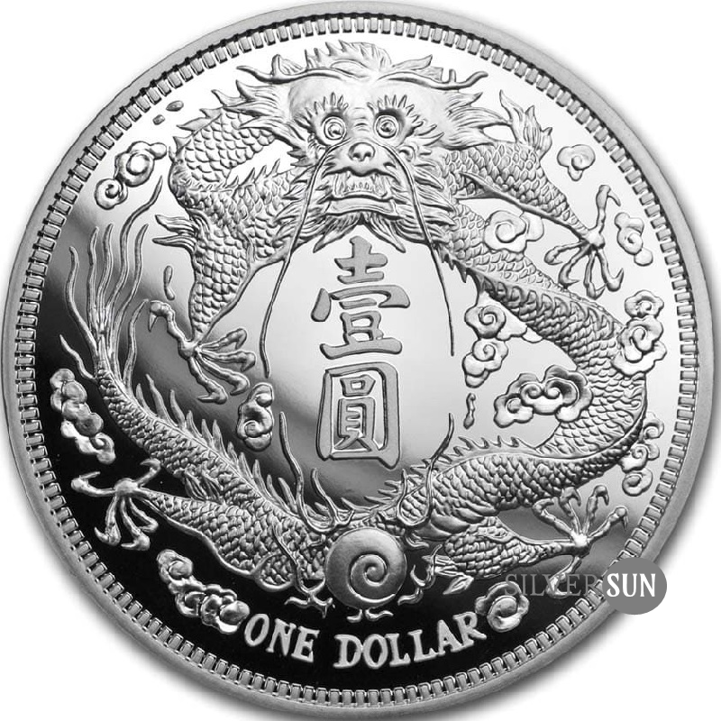 China´s Most Valuable Vintage Coins - Long-Whiskered Dragon Dollar 2019 1oz