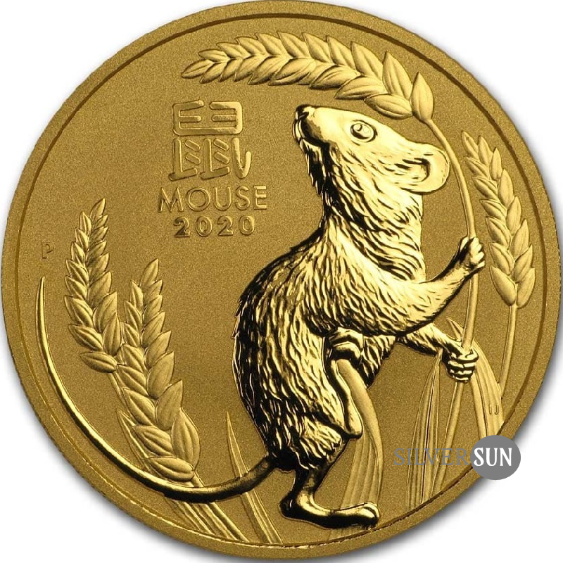 Lunar III - Year of the Mouse 2020 2oz (gold)**
