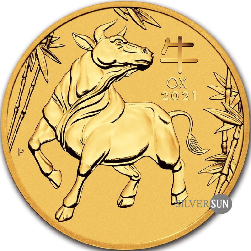 Lunar III - Year of the Ox 2021 2oz (gold)**