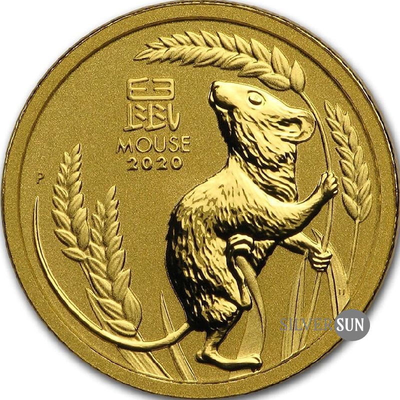 Lunar III - Year of the Mouse 2020 1/10oz (gold)**