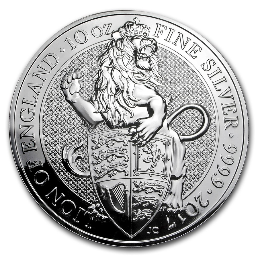 The Queen´s Beasts - Lion of England 2017 (Lev Anglicka) 10oz