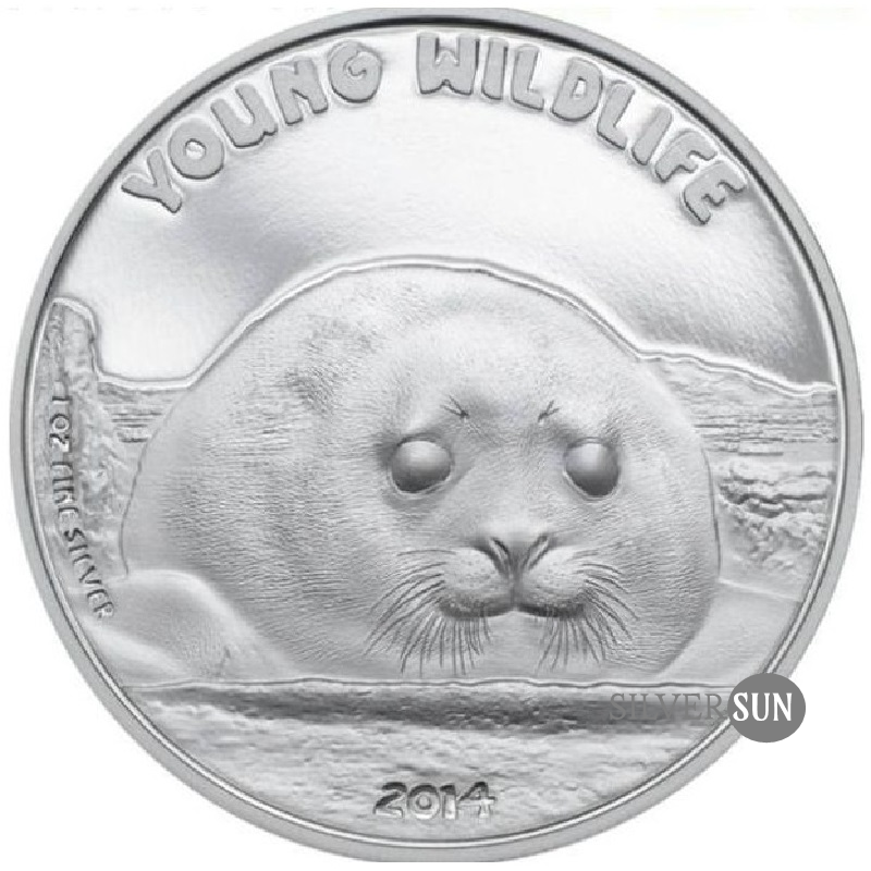 Cook Islands - Young Wildlife - Seal Pup 2014 PP 1oz