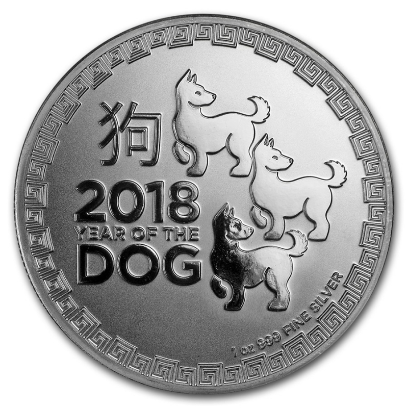 Niue - Year of the Dog 2018 (Rok psa) 1oz