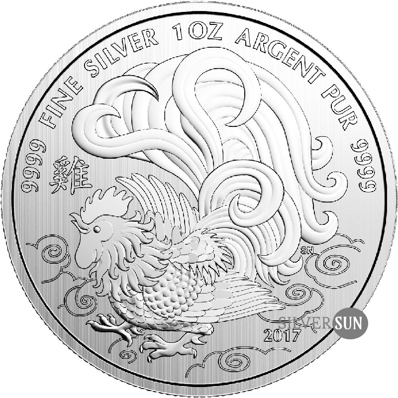 Canada - Lunar - Year of the Rooster 2017 1oz