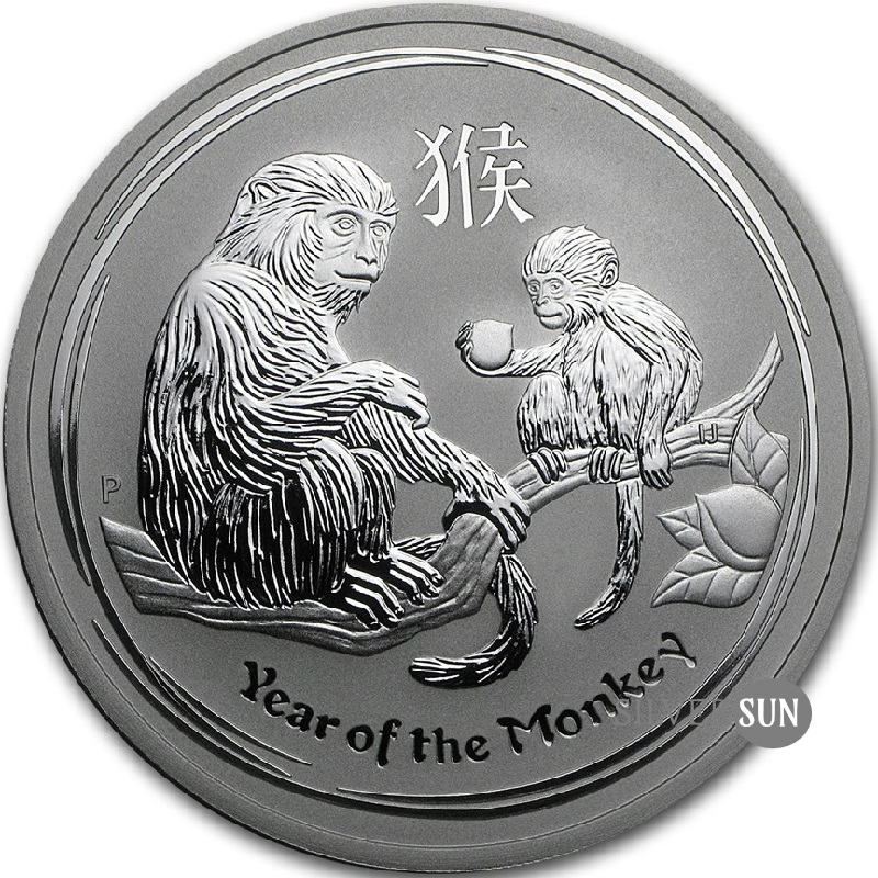 Year of the Monkey 2016 (Lunar II - Rok opice) 2oz