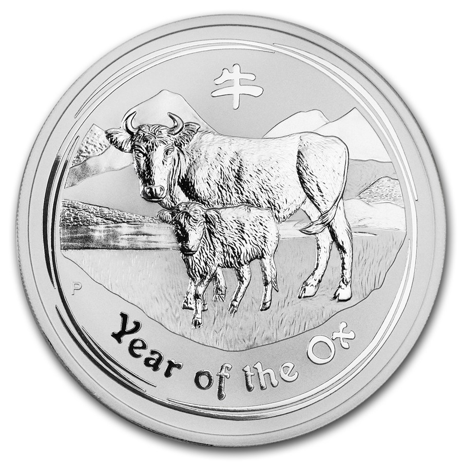 Year of the Ox 2009 (Lunar II - Rok vola) 5oz