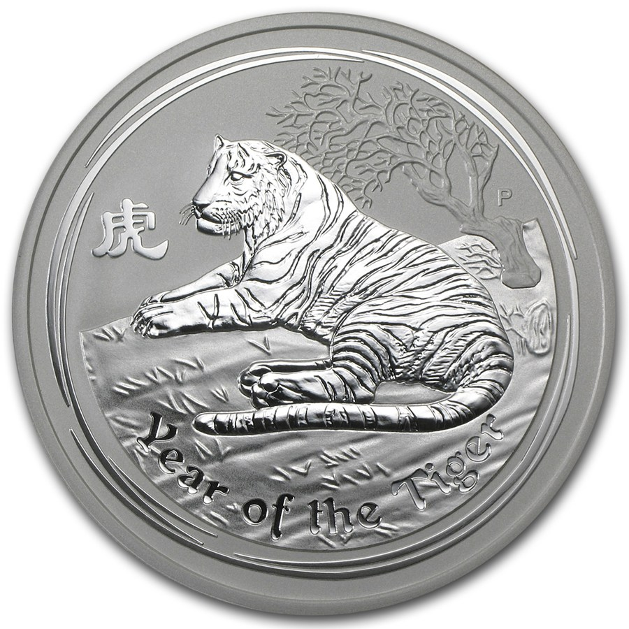 Year of the Tiger 2010 (Lunar II - Rok tigra) 5oz