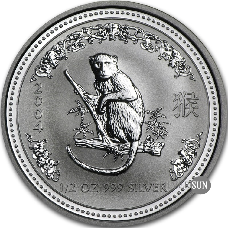 Year of the Monkey 2004 (Lunar I - Rok opice) 1/2oz