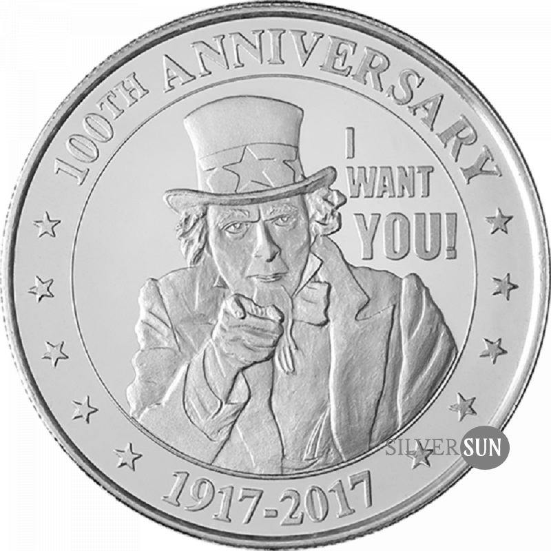Uncle Sam - I Want You 2017 1oz