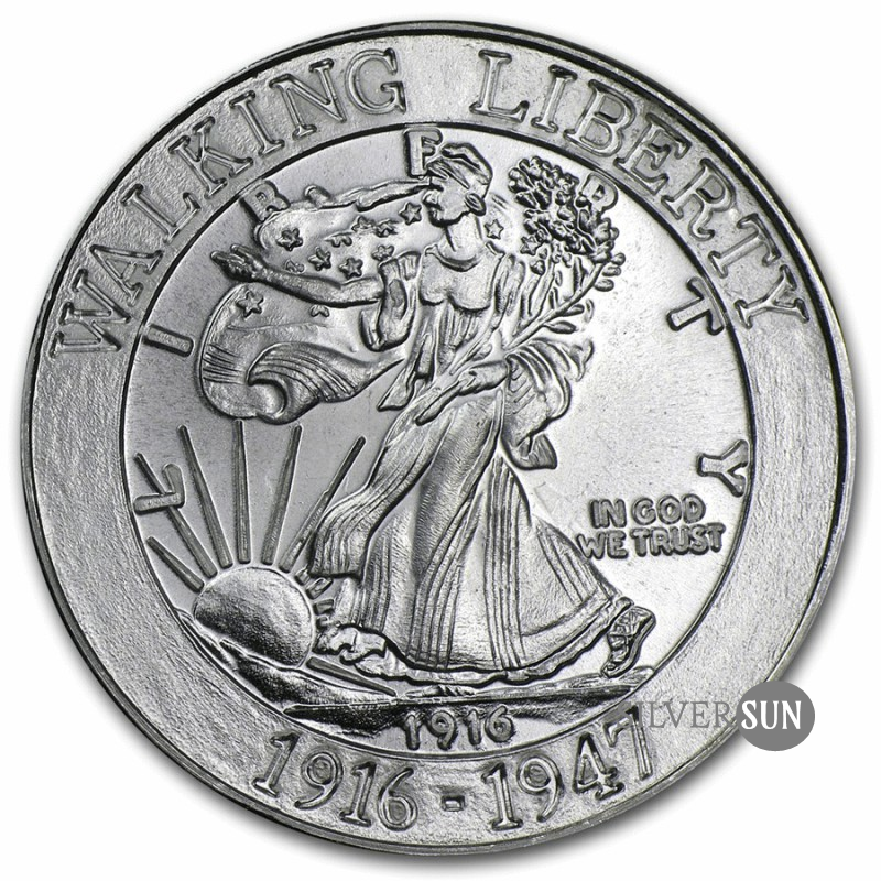 Walking Liberty Commemorative Copy Half Dollar Design 1916 1oz