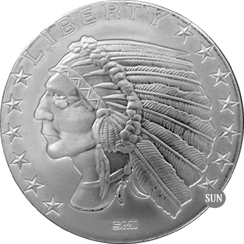 Incuse Indian SMI 1oz