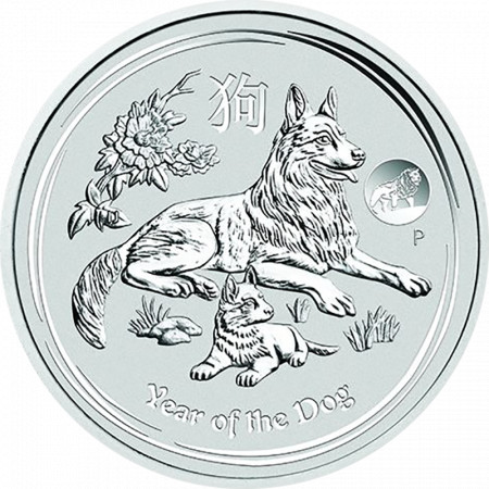Year of the Dog 2018 Privy (Lunar II - Rok psa) 1oz
