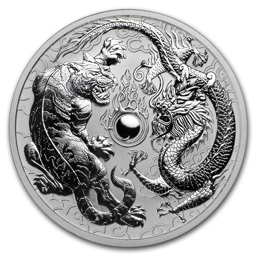 Dragon & Tiger 2018 (Drak a tiger) 1oz