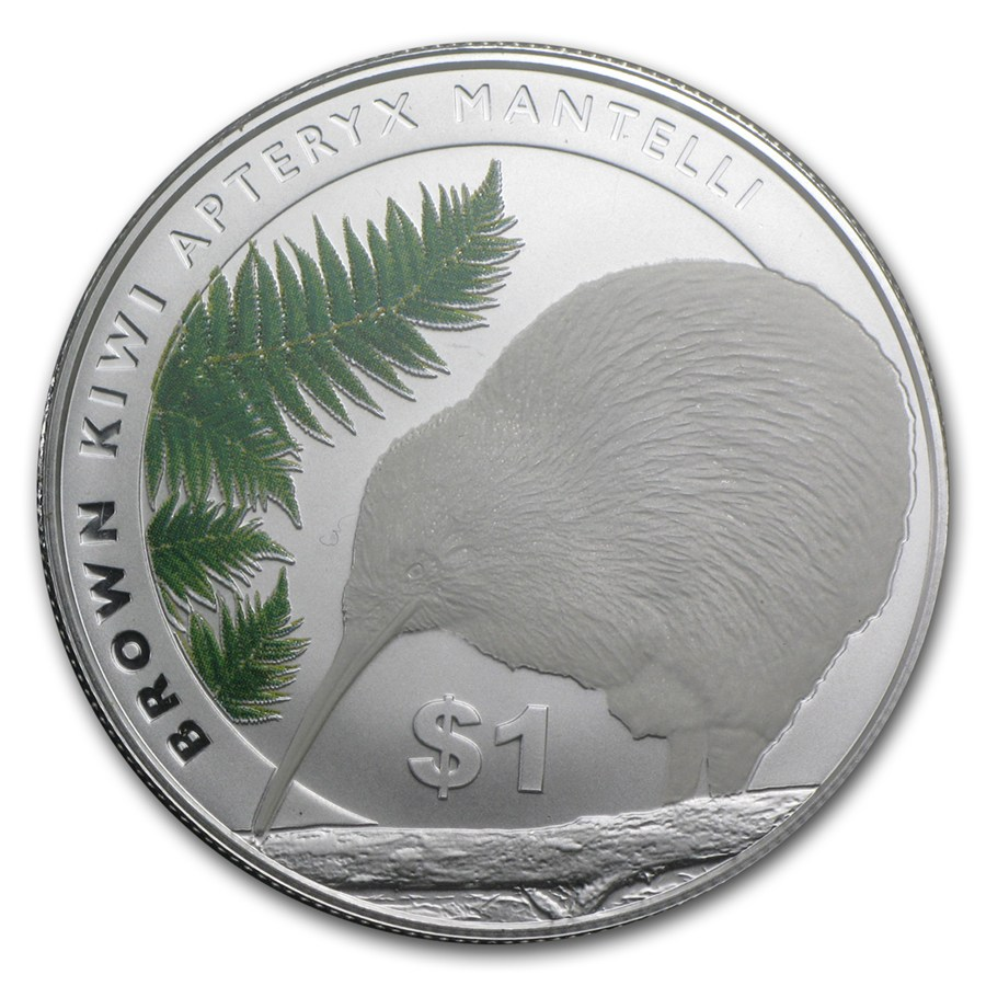 Kiwi - Brown Kiwi Apteryx Mantelli 2015 1oz