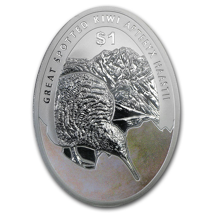 Kiwi - Great Spotted Kiwi Apteryx Haastii 2016 1oz