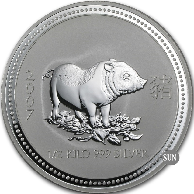 Year of the Pig 2007 (Lunar I - Rok prasaťa) 0,5kg