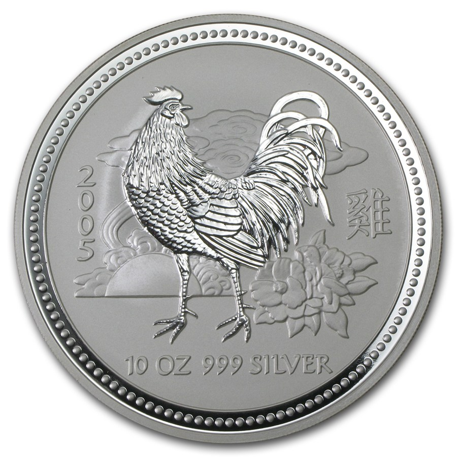 Year of the Rooster 2005 (Lunar I - Rok kohúta) 10oz