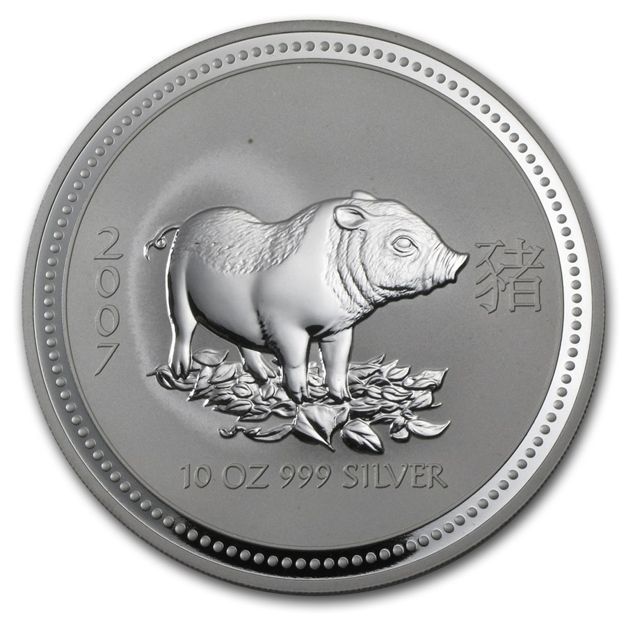 Year of the Pig 2007 (Lunar I - Rok prasaťa) 10oz