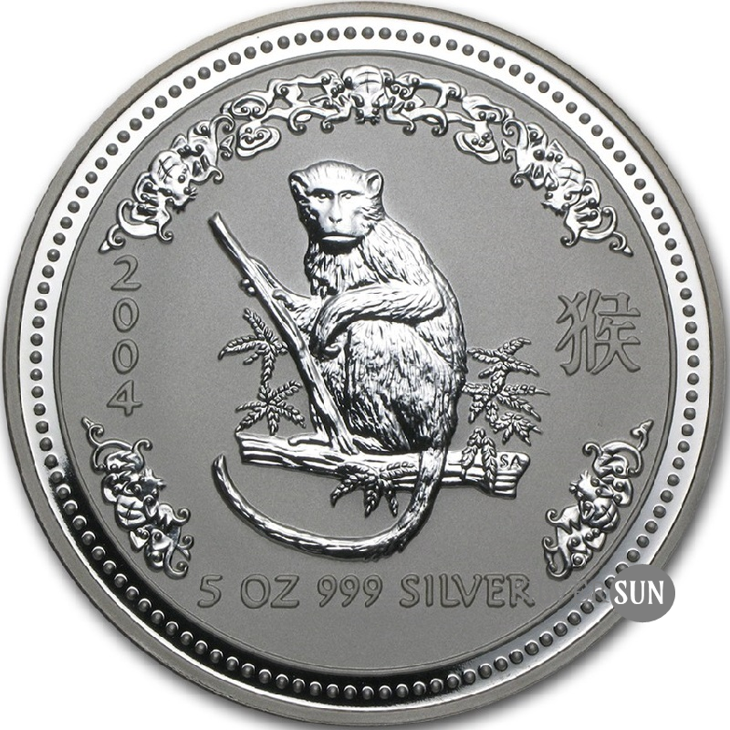 Year of the Monkey 2004 (Lunar I - Rok opice) 5oz