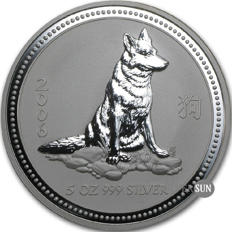 Year of the Dog 2006 (Lunar I - Rok psa) 5oz