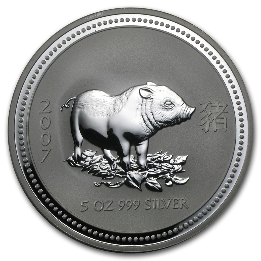 Year of the Pig 2007 (Lunar I - Rok prasaťa) 5oz
