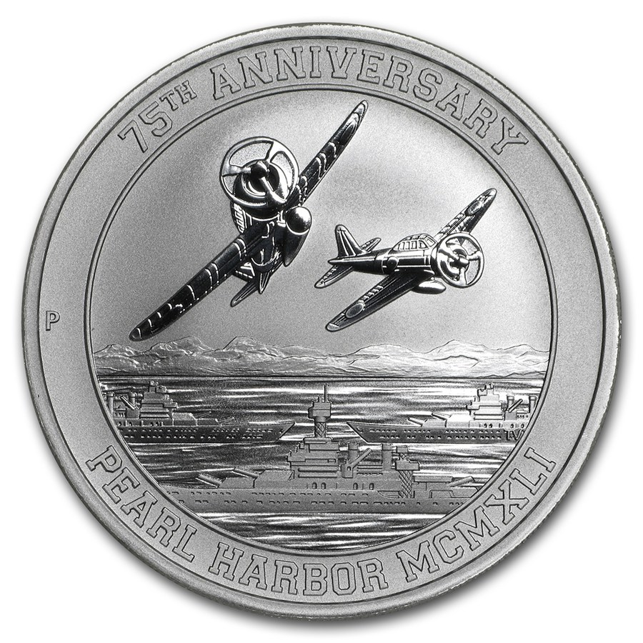 Pearl Harbor 75th Anniversary 2016 1oz