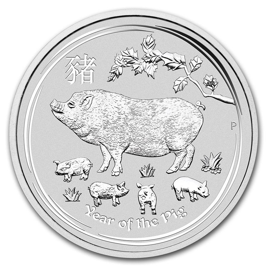 Year of the Pig 2019 (Lunar II - Rok prasaťa) 5oz