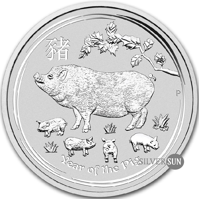 Year of the Pig 2019 (Lunar II - Rok prasaťa) 1/2oz