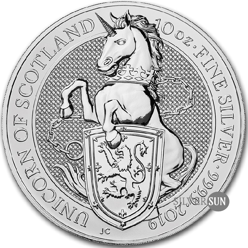 The Queen´s Beasts - Unicorn of Scotland 2019 (Jednorožec) 10oz