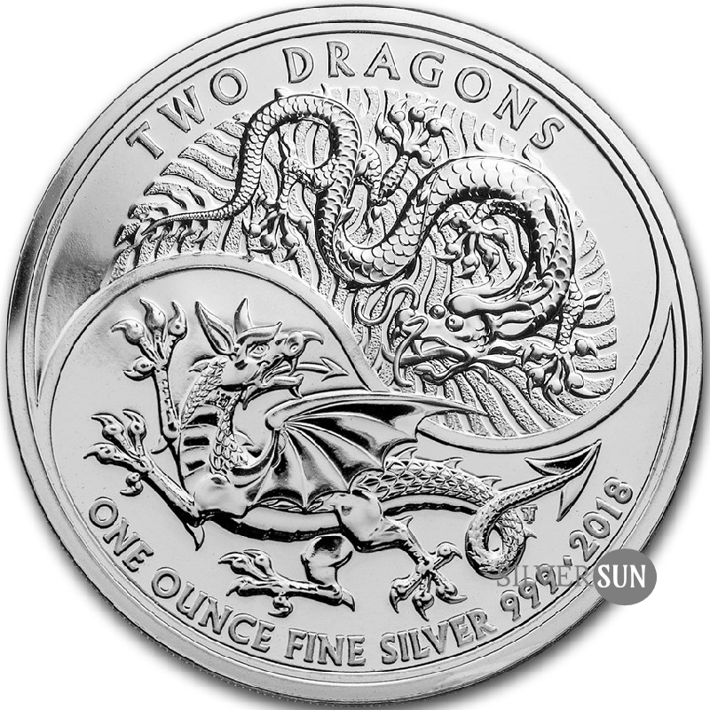 Two Dragons 2018 (Dvaja draci) 1oz