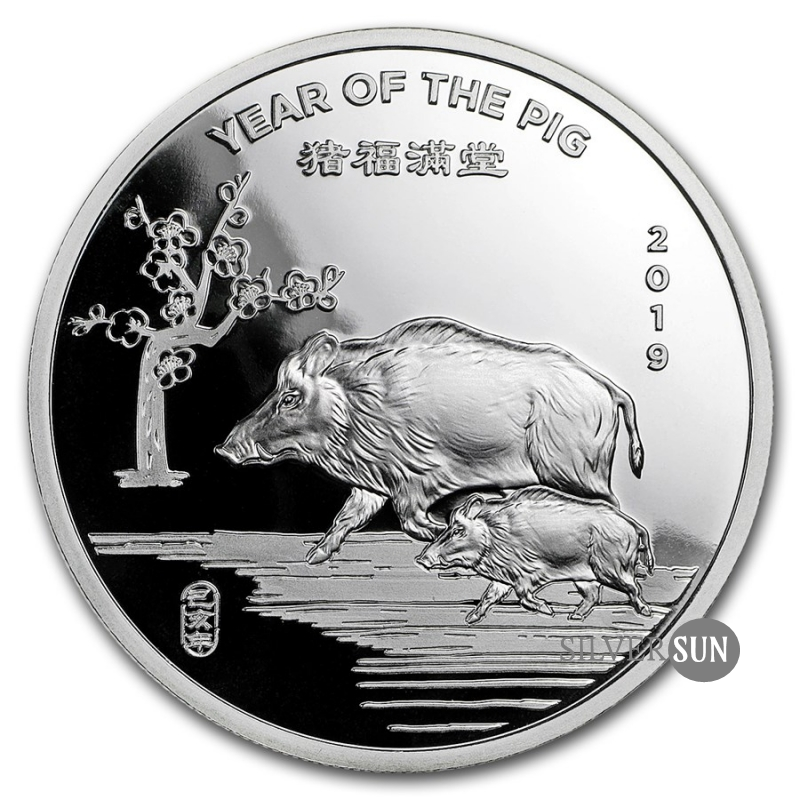 Year of the Pig 2019 (Sunshine Mint Lunar - Rok prasaťa) 1oz