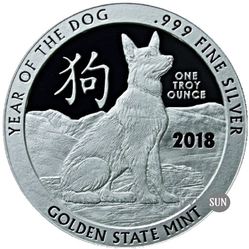 Chinese Zodiac - Year of the Dog 2018 1oz