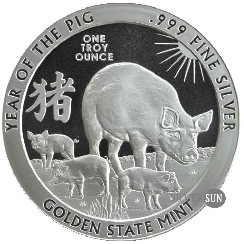 Chinese Zodiac - Year of the Pig 2019 1oz